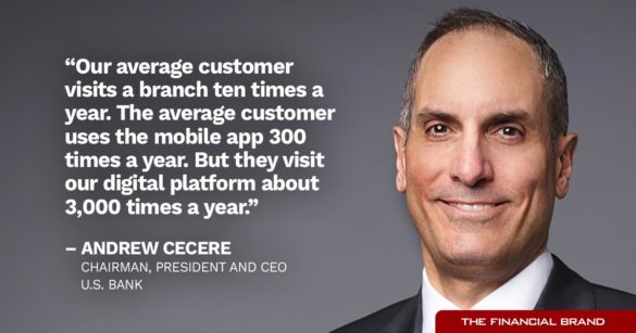 Andrew Cecere US Bank ten times a year quote