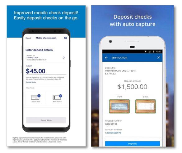 Chase US Bank mobile deposit