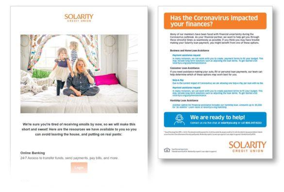 Coronavirus email communication Solarity