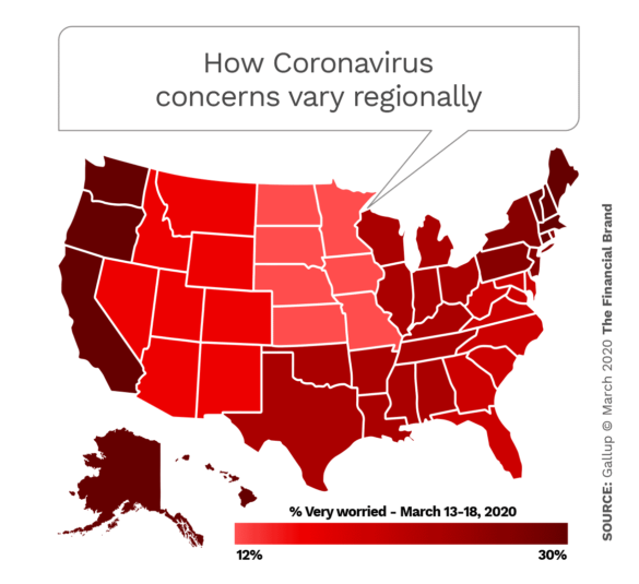 How Coronavirus concerns vary regionally