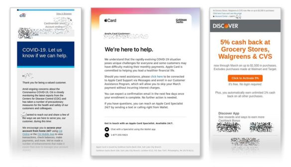Citi Apple Discover Card emails