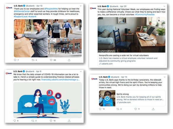 US Bank social media tweets