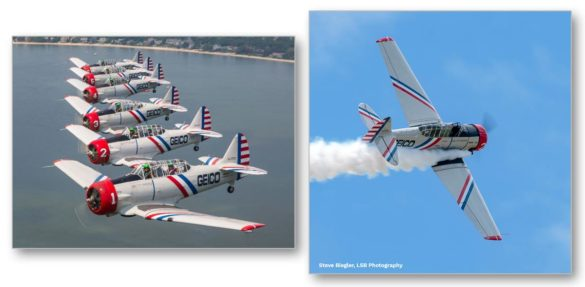 Air show COVID Geico Skytypers