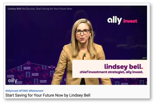 Ally financial literacy Lindsey Bell video