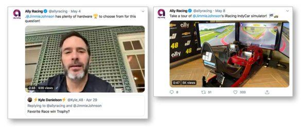 Ally racing social media