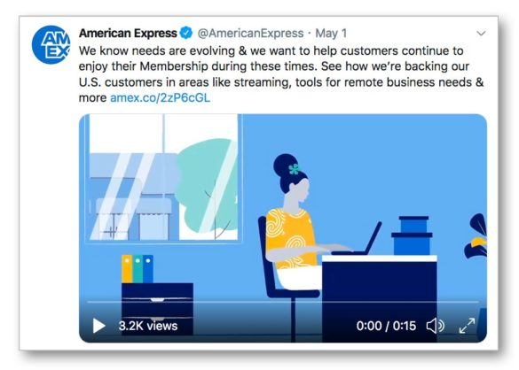 "Remises American Express tweet ""width ="" 585 ""height ="" 418 ""srcset ="" https://thefinancialbrand.com/wp-content/uploads/2020/05/american-express-discounts-tweet-585x418.jpg 585w, https : //thefinancialbrand.com/wp-content/uploads/2020/05/american-express-discounts-tweet-300x214.jpg 300w, https://thefinancialbrand.com/wp-content/uploads/2020/05/american- express-discount-tweet-485x347.jpg 485w, https://thefinancialbrand.com/wp-content/uploads/2020/05/american-express-discounts-tweet-768x549.jpg 768w, https://thefinancialbrand.com/ wp-content / uploads / 2020/05 / american-express-réductions-tweet.jpg 971w ""tailles ="" (largeur max: 585px) 100vw, 585px"
