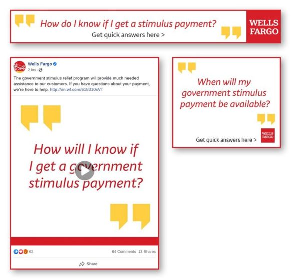 Wells Fargo stimulus messages