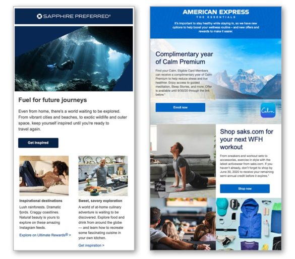Email marketing American Express Chase