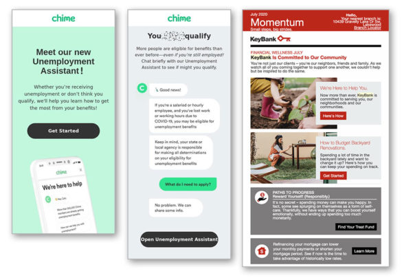 Email marketing Chime KeyBank
