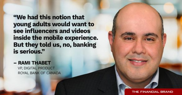 Rami Thabet no influencers in banking quote