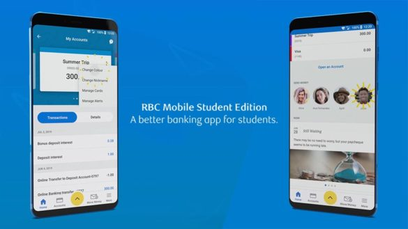 RBC mobile student edition banking app