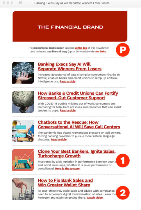 Best Email Newsletters 2021 The Financial Brand   eDigest Email Newsletter Ads