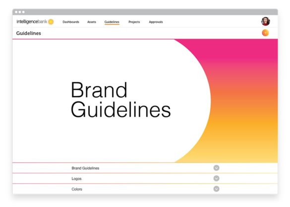brand guidelines Intelligence Bank