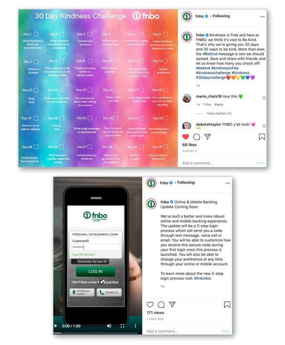 FNBO kindness social media