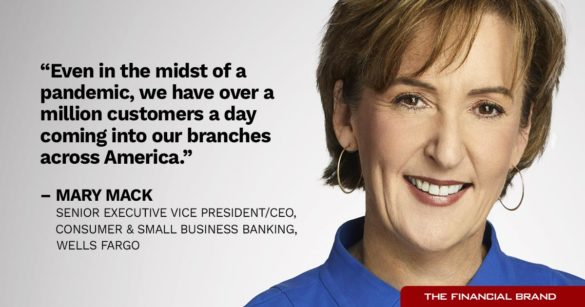 Mary Mack million branch customers a day Wells Fargo quote