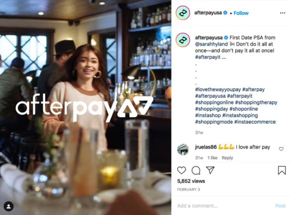 Afterpay on Instagram