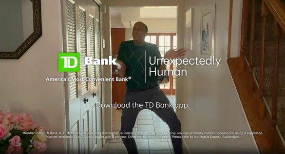 TD Bank TV commercial unexpectedly human