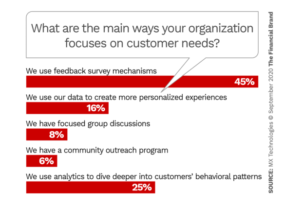 What are the main ways your organization focuses on understanding and solving customer needs