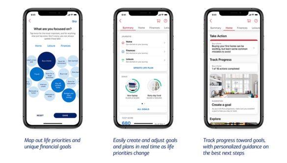 BofA Life Plan app screens