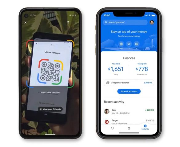 Google Pay QR code search features