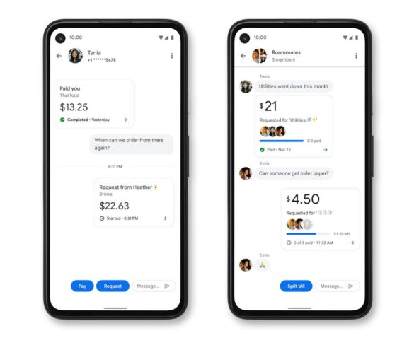Google payments people groups screens