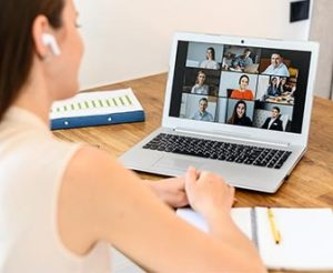 Article Image: When Banking Staffers Videoconference from Home Who Else Watches?