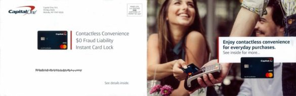 Capital one postcard contactless card