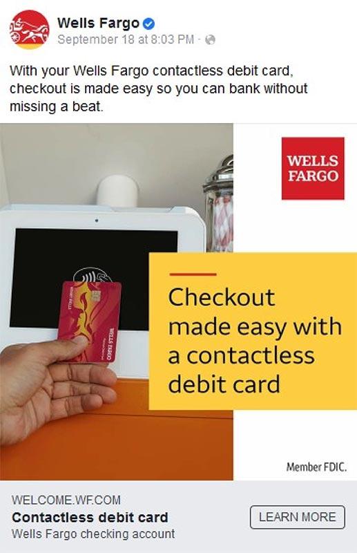 Wells Fargo contactless card
