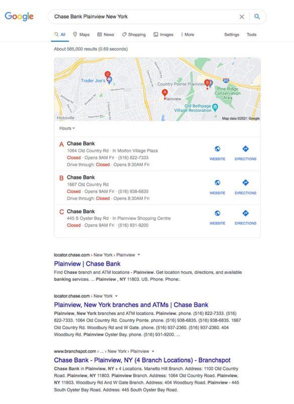 Chase Bank plain view New York Google search