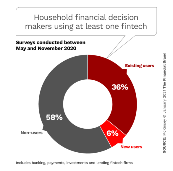 Household financial decision makers using at least one fintech