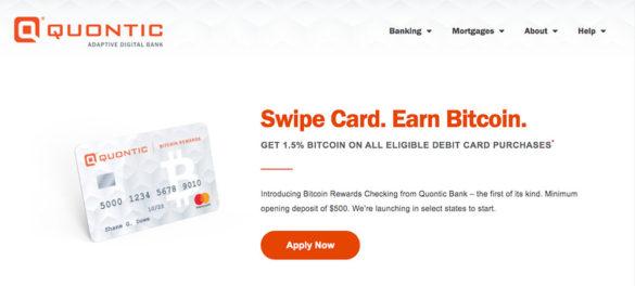 Quontic swipe card earn Bitcoin