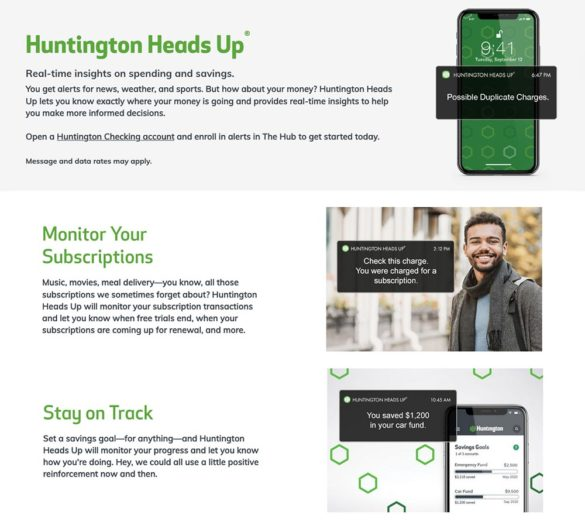 Huntington Heads Up montor supscriptions stay on track