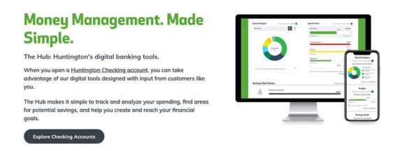 Huntington The Hub money management made simple