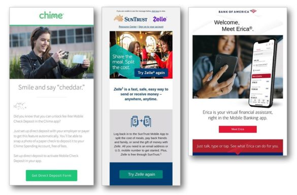Mobile banking app chime BofA Suntrust