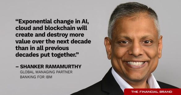 Shanker Ramamurthy exponential change in AI cloud and blockchain quote