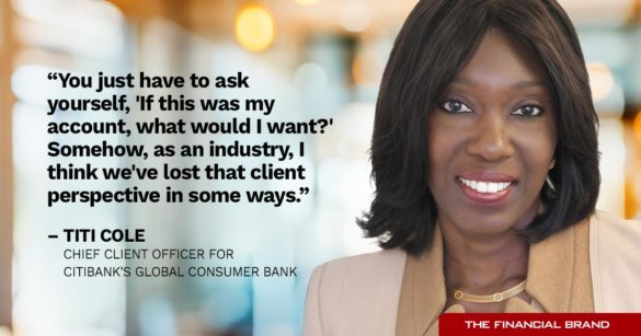 Titi Cole we've lost client perspective quote