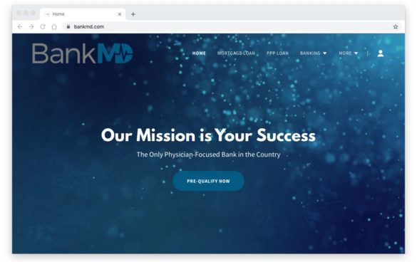 BankMD, a neobank from TransPecos Financial developed with Nymbus.