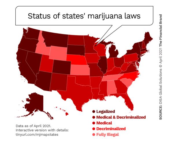 Status of states marijuana laws