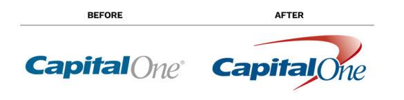 banking rebrand Capital One logos