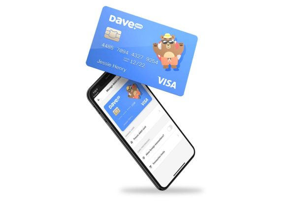 Dave debit card and mobile phone app
