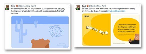 Dave social media Tweets