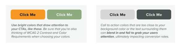 Onboarding examples of vibrant colors click buttons