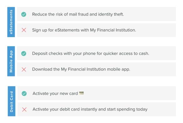Onboarding good bad subject lines debit card estatements mobile app