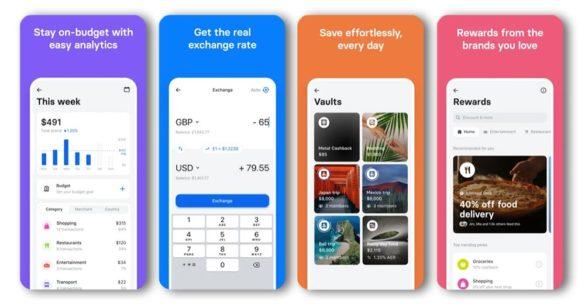 Revolut mobile banking consumer app screens