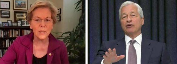 Senator Elizabeth Warren JPMorgan Chase CEO Jamie Dimon senate hearing