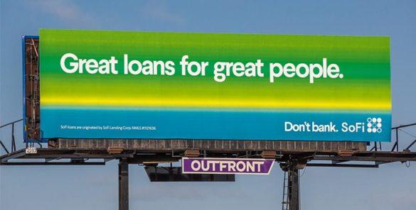 SoFi great loans for great people billboard