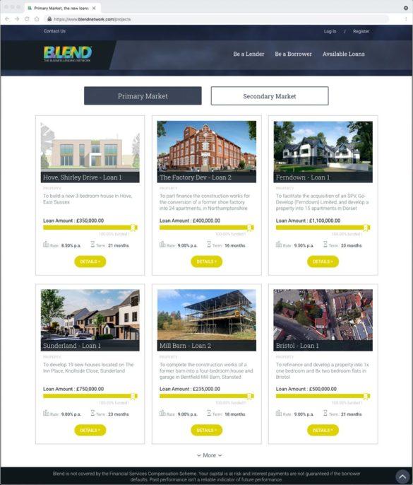 Blend Network website commercial real estate investment