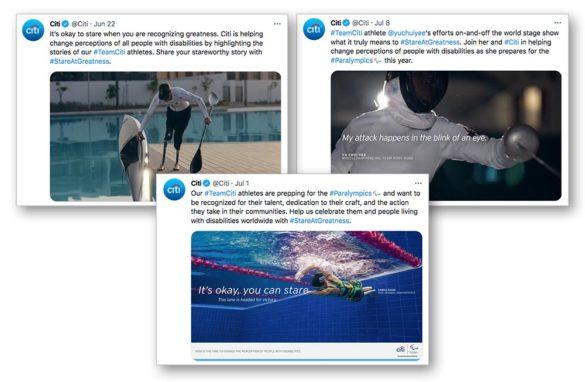 Citi promotes paralympics on Twitter