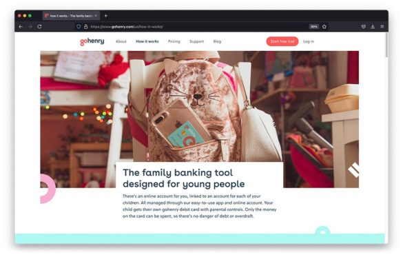 GoHenry custom cards banking young people