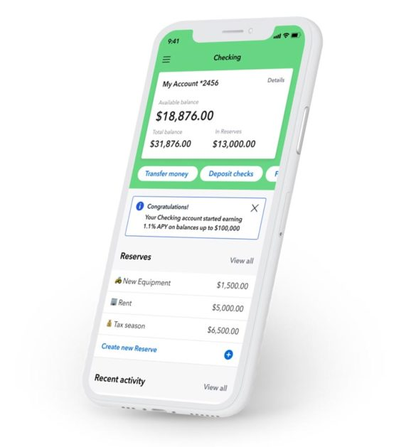 Kabbage checking account phone mobile app